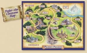 Pilgrim's Progress Classroom Map Poster